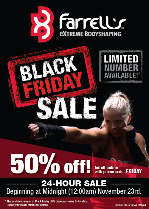 Black Friday Deal One Day Only At Farrells Extreme Body Shaping Best Gay Chicago