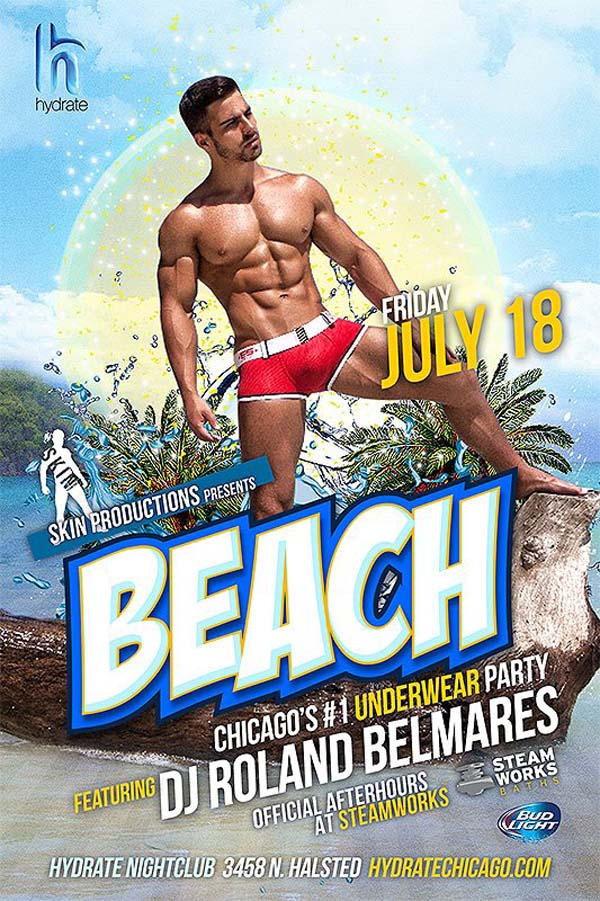 skin productions BEACH at hydrate chicago