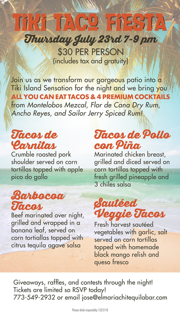 tiki taco mexican food deals chicago