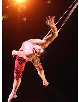 cirque du Soleil  Continent of Doubles aerial straps