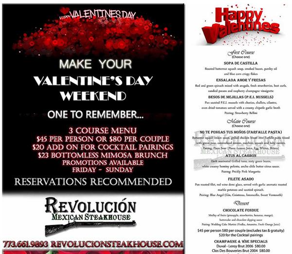 Valentines Dinner Deals