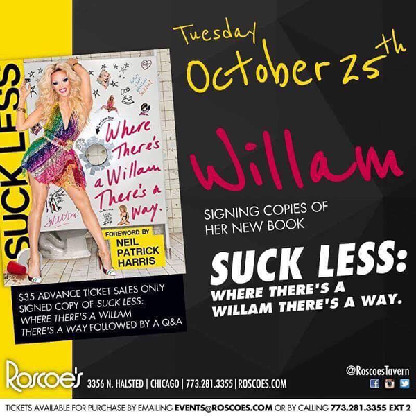 willam-chicago-new-book-suck-less