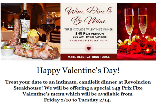 Valentine's day restaurant deals detroit